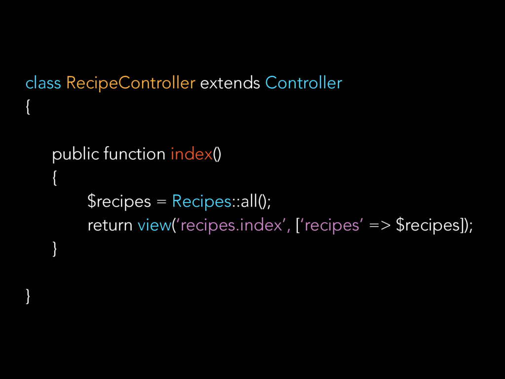 class RecipeController extends Controller { pub...