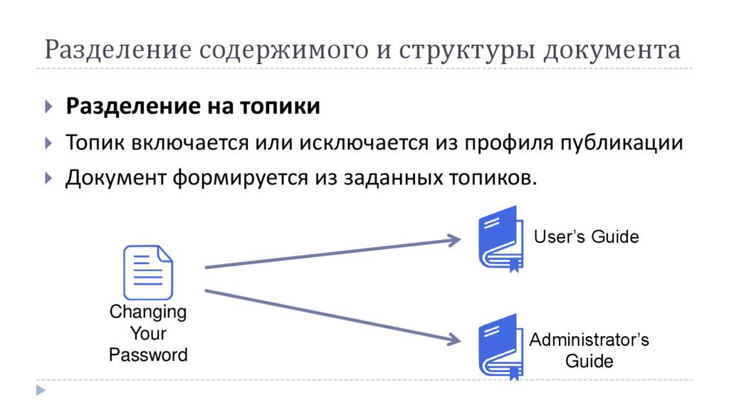 Разделение содержимого и структуры документа  ...