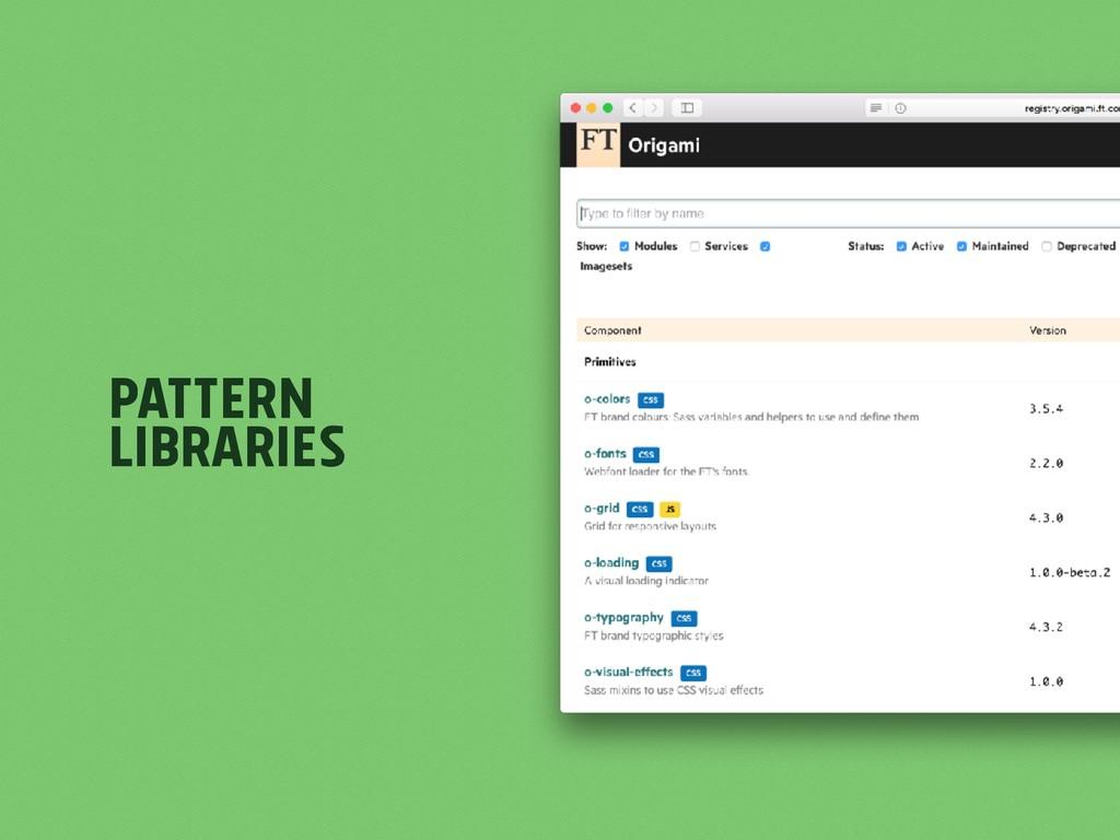 Pattern Libraries