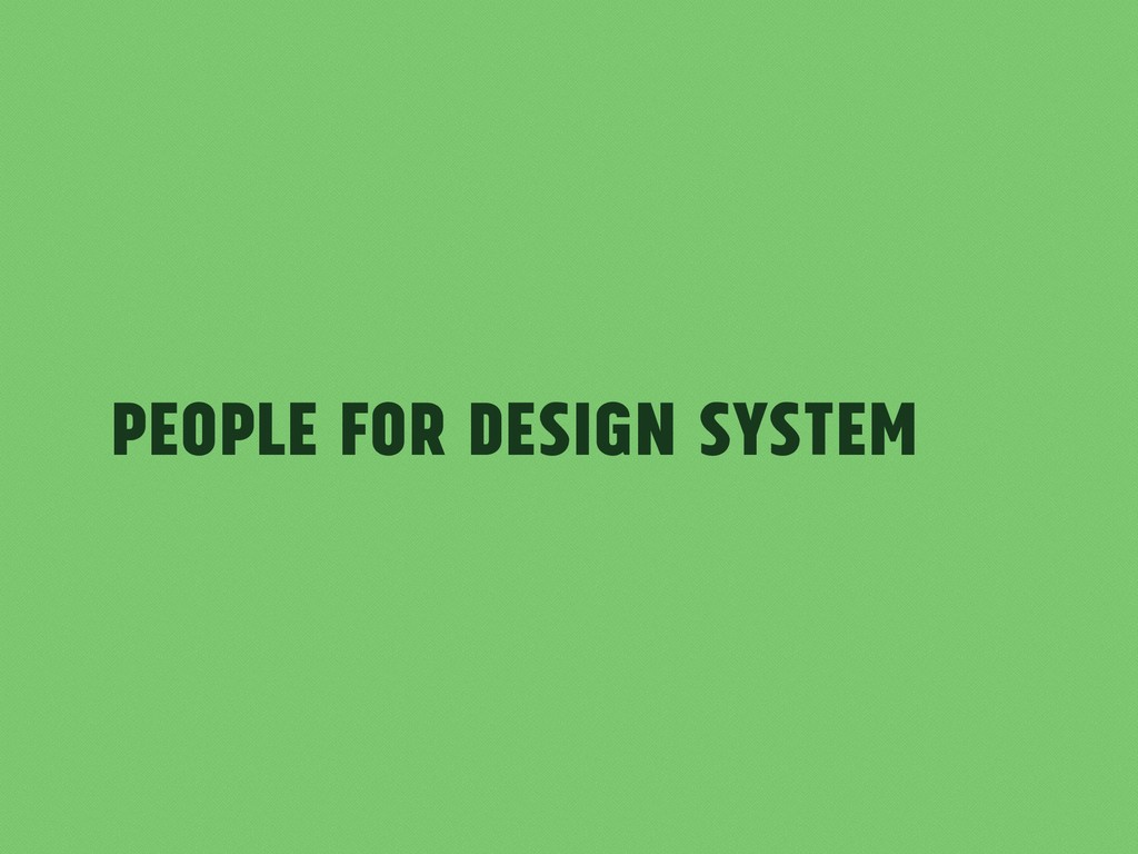 People for Design System