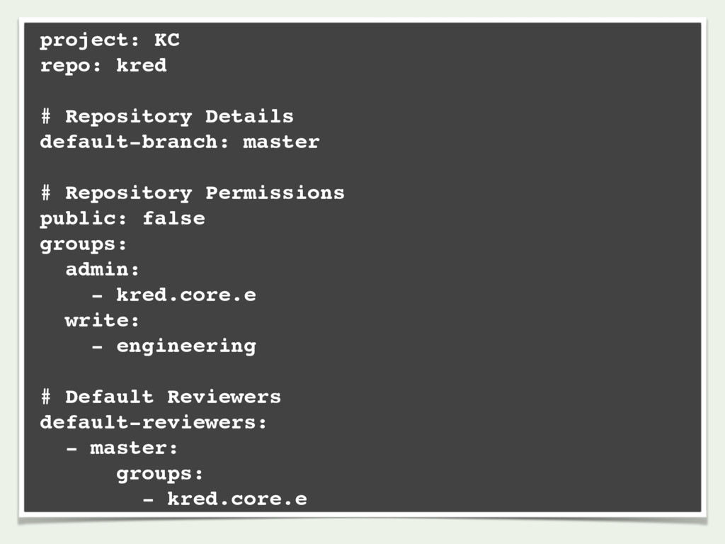 project: KC repo: kred # Repository Details def...