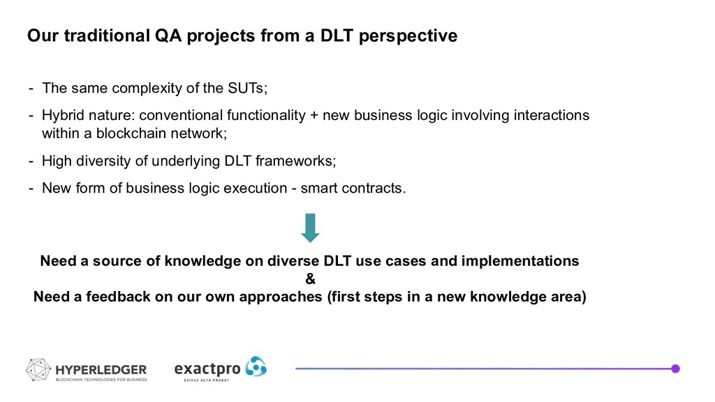 Need a source of knowledge on diverse DLT use c...