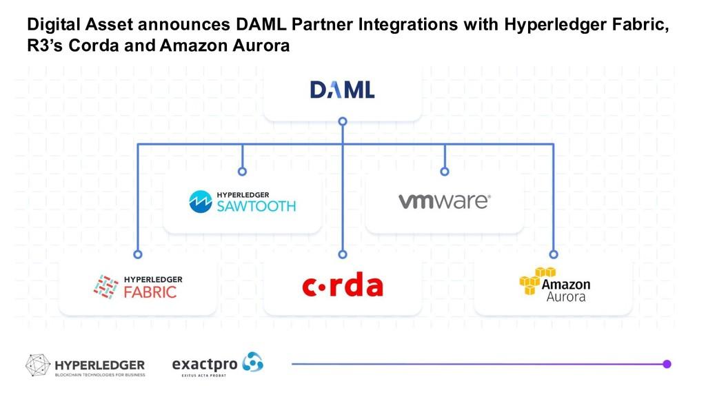 Digital Asset announces DAML Partner Integratio...