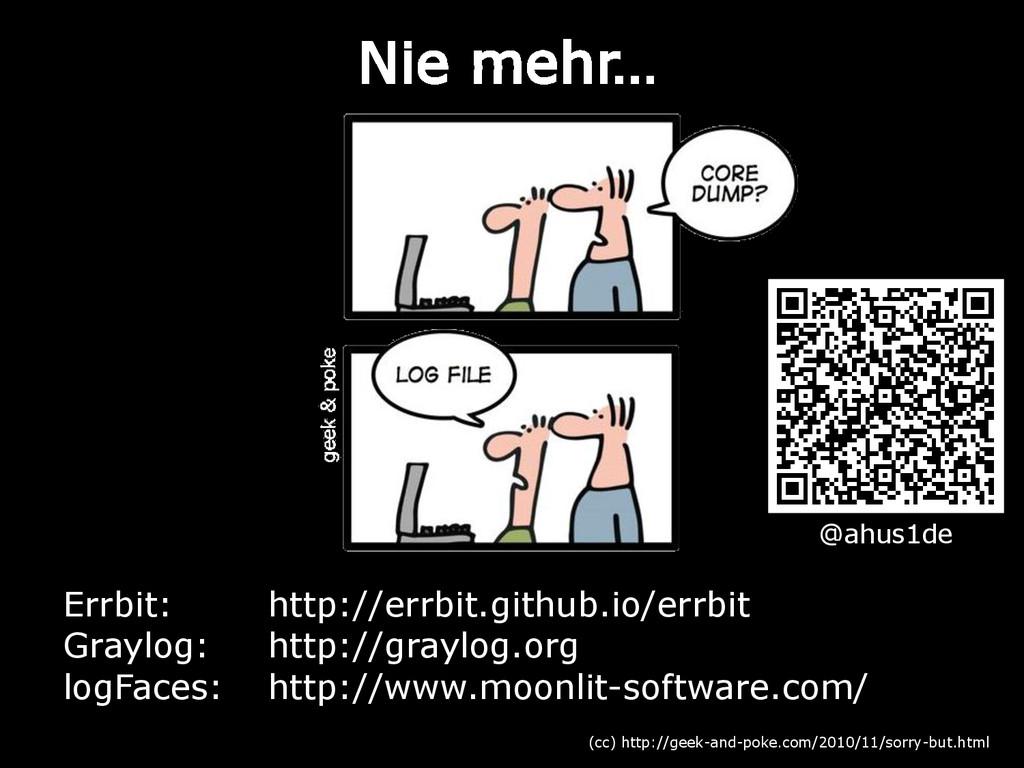 Nie mehr… (cc) http://geek-and-poke.com/2010/11...