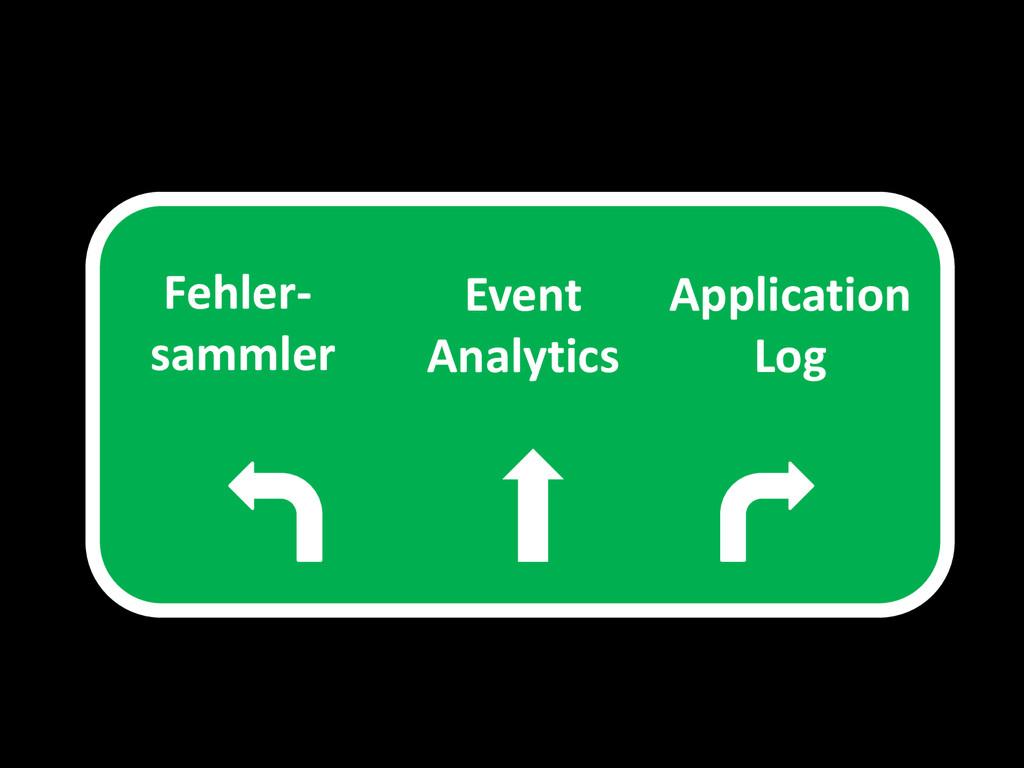 Fehler- sammler Application Log Event Analytics