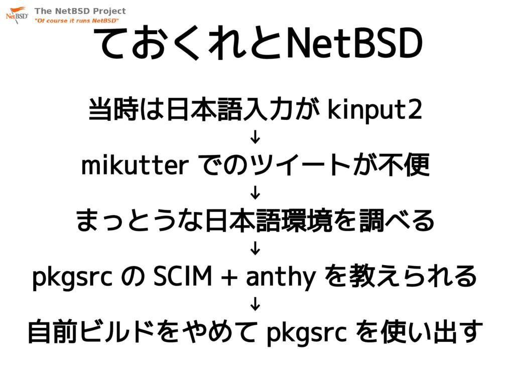当時は日本語入力が kinput2 ↓ mikutter でのツイートが不便 ↓ まっとうな日...