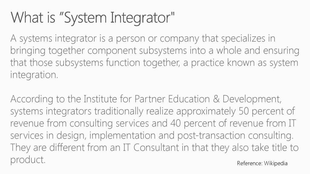 A systems integrator is a person or company tha...
