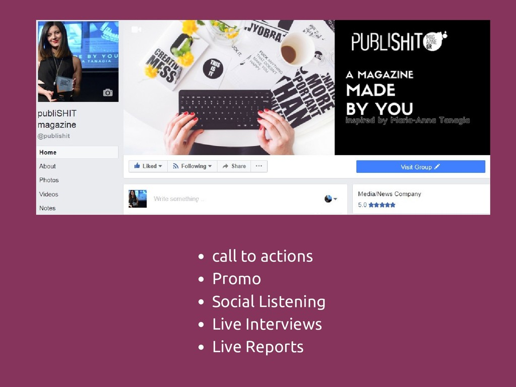 Add subheading call to actions Promo Social Lis...