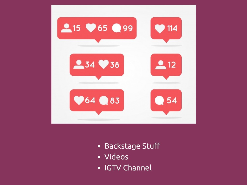 Backstage Stuff Videos IGTV Channel