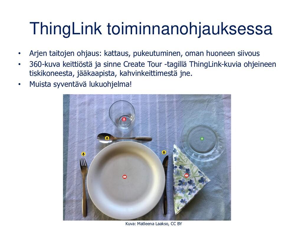 ThingLink toiminnanohjauksessa • Arjen taitojen...