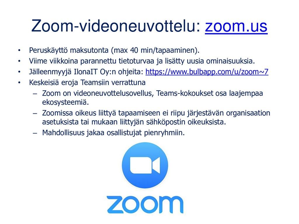Zoom-videoneuvottelu: zoom.us • Peruskäyttö mak...