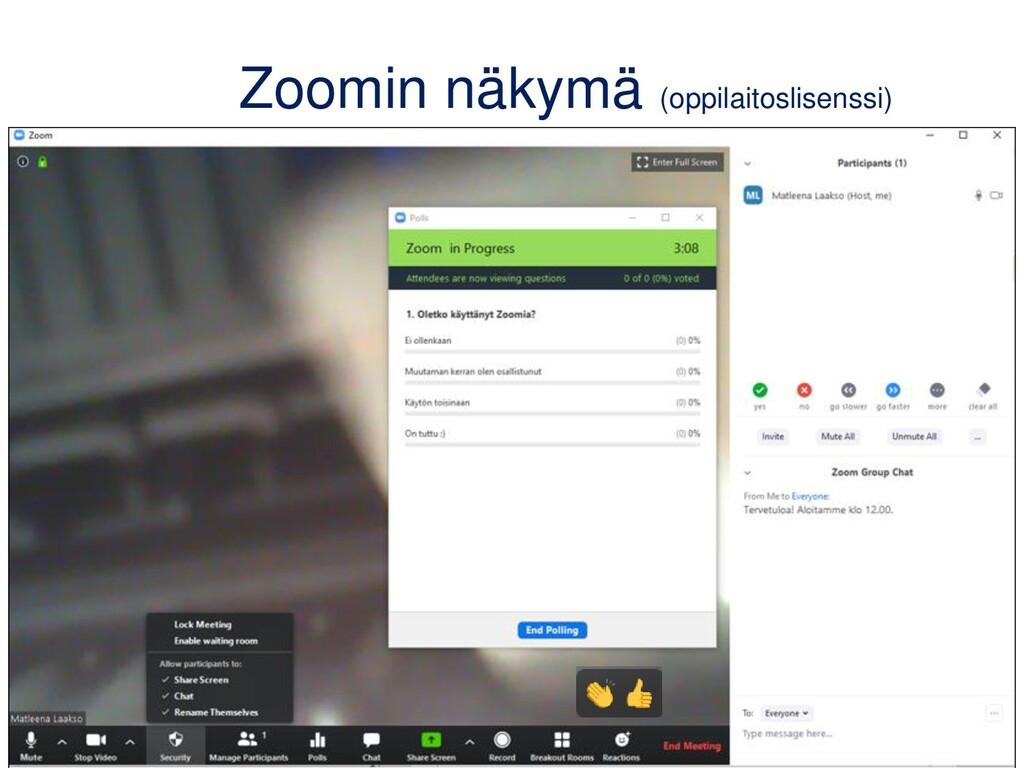Zoomin näkymä (oppilaitoslisenssi)