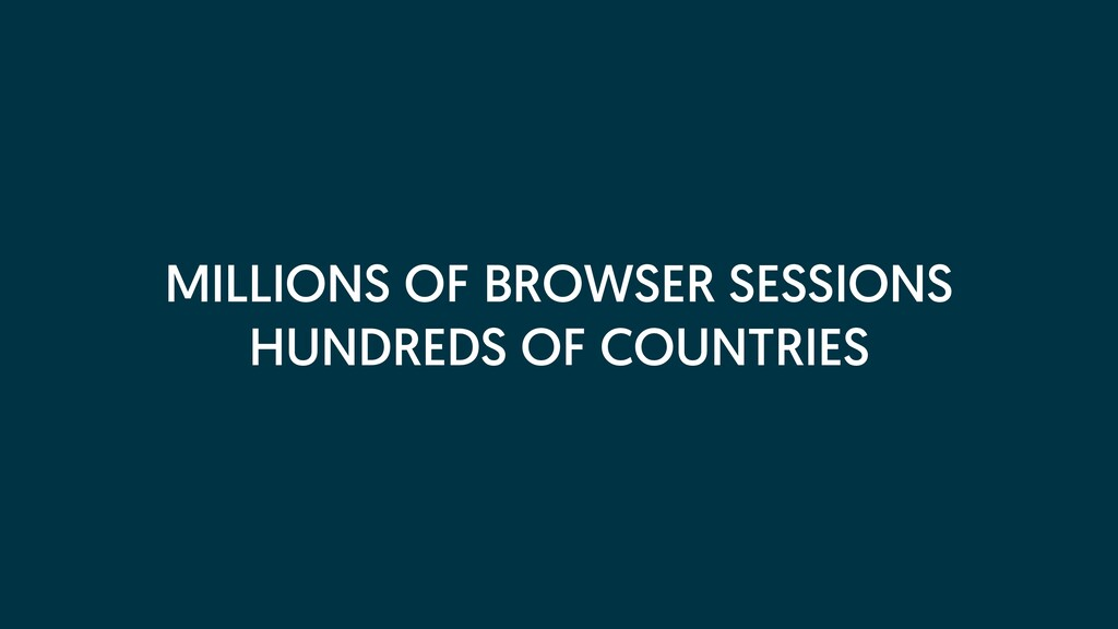 MILLIONS OF BROWSER SESSIONS HUNDREDS OF COUNTR...