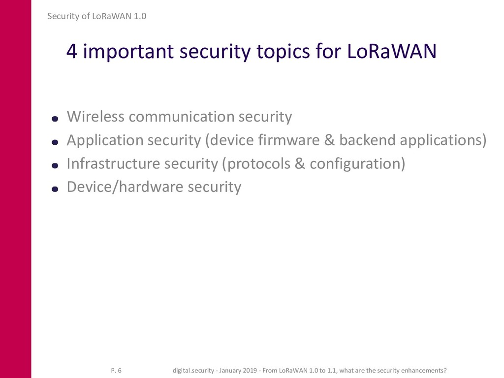 4 important security topics for LoRaWAN Wireles...