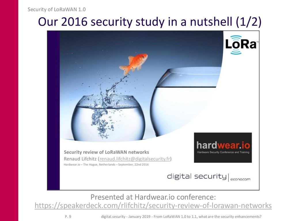 Our 2016 security study in a nutshell (1/2) Pre...