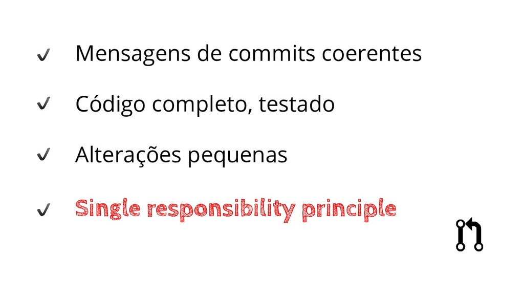 Mensagens de commits coerentes Código completo,...