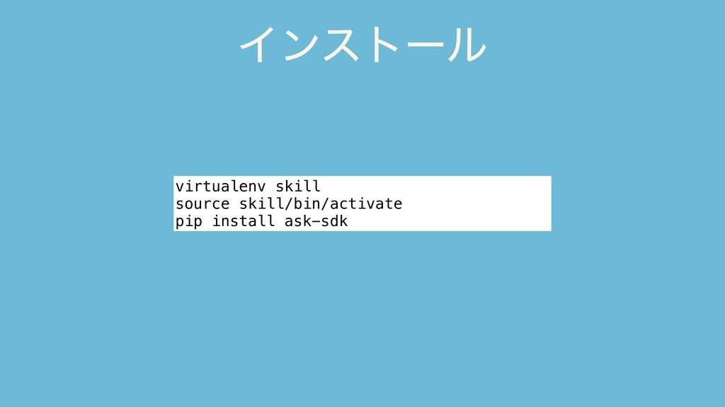 Πϯετʔϧ virtualenv skill source skill/bin/activa...