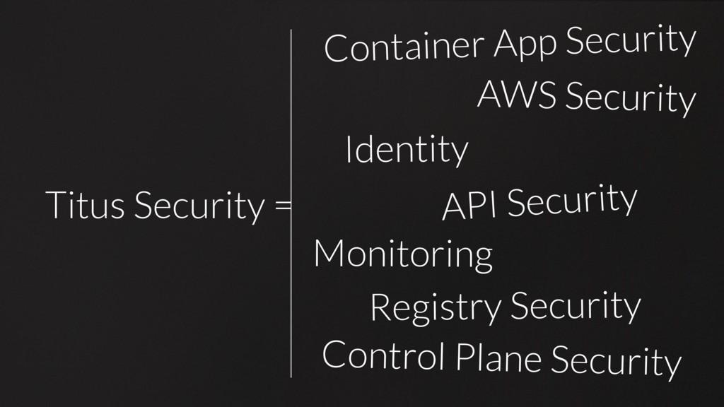 Titus Security = Titus Security = Container App...