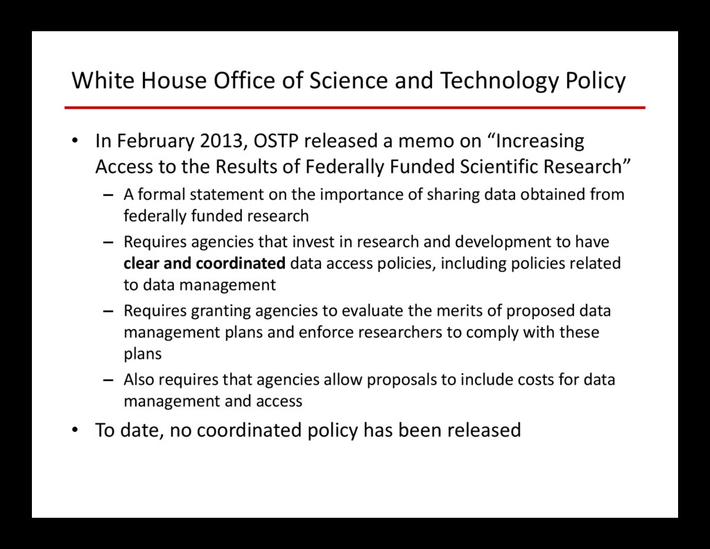 White House Office of Science and Technology Po...