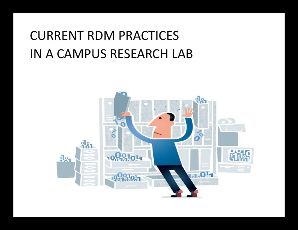 CURRENT RDM PRACTICES IN A CAMPUS RESEARCH LAB