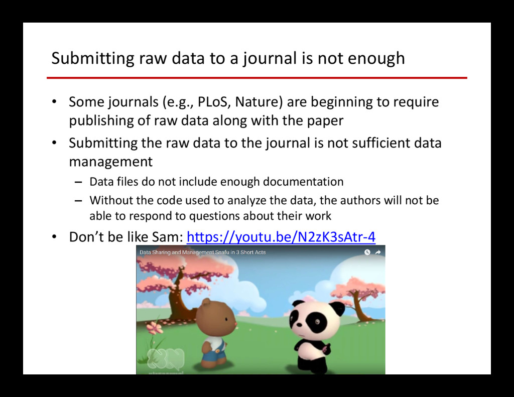 Submitting raw data to a journal is not enough ...