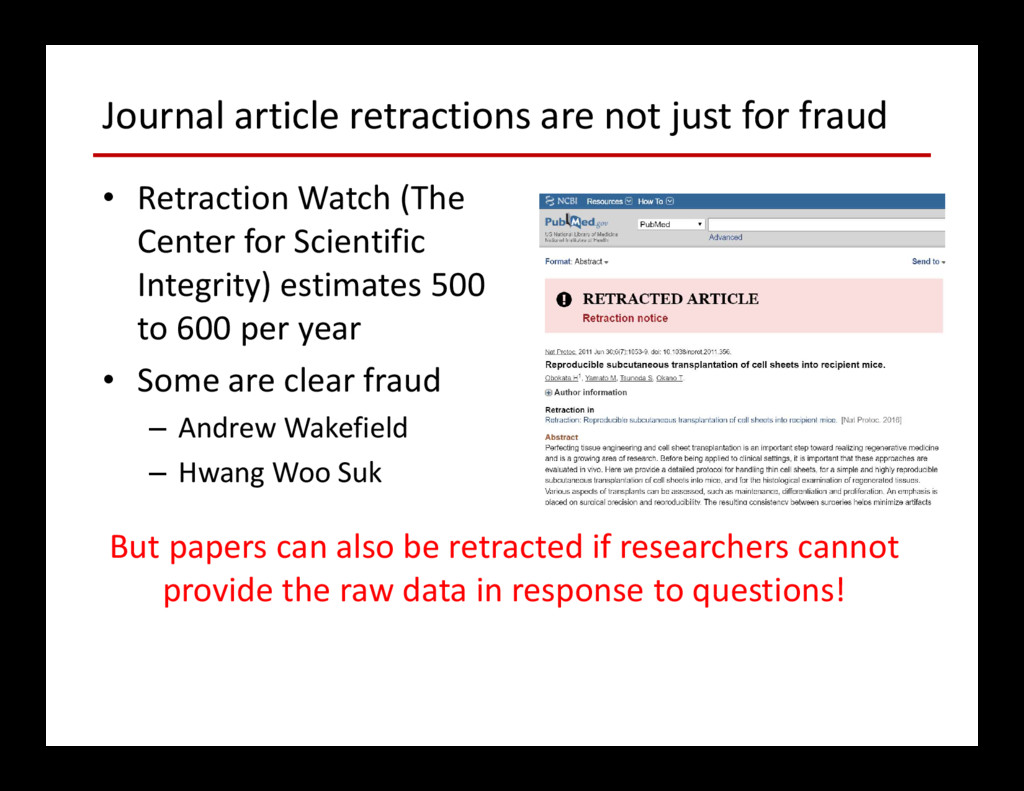Journal article retractions are not just for fr...