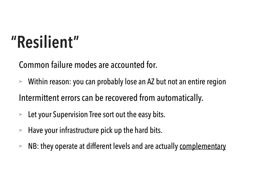 """""""Resilient"""" Common failure modes are accounted ..."""