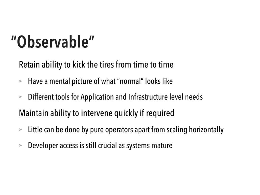 """""""Observable"""" Retain ability to kick the tires f..."""