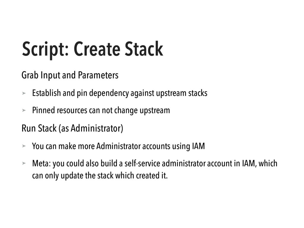 Script: Create Stack Grab Input and Parameters ...