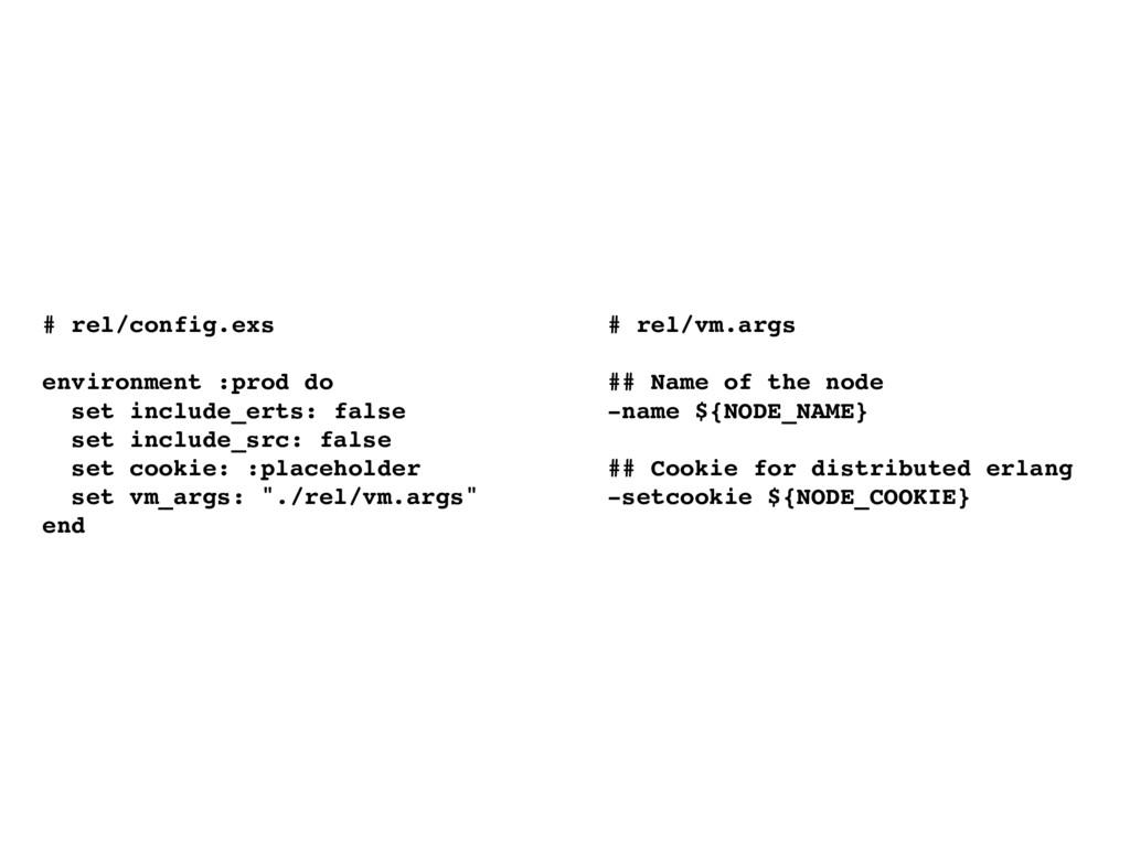 # rel/config.exs environment :prod do set inclu...