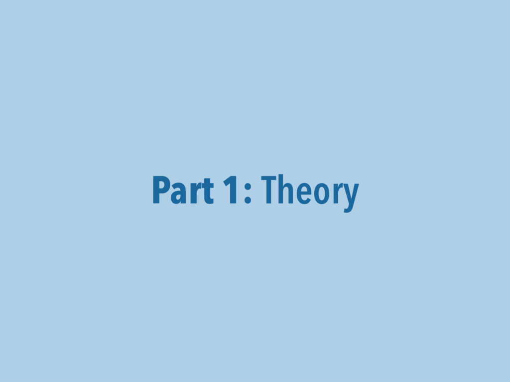 Part 1: Theory