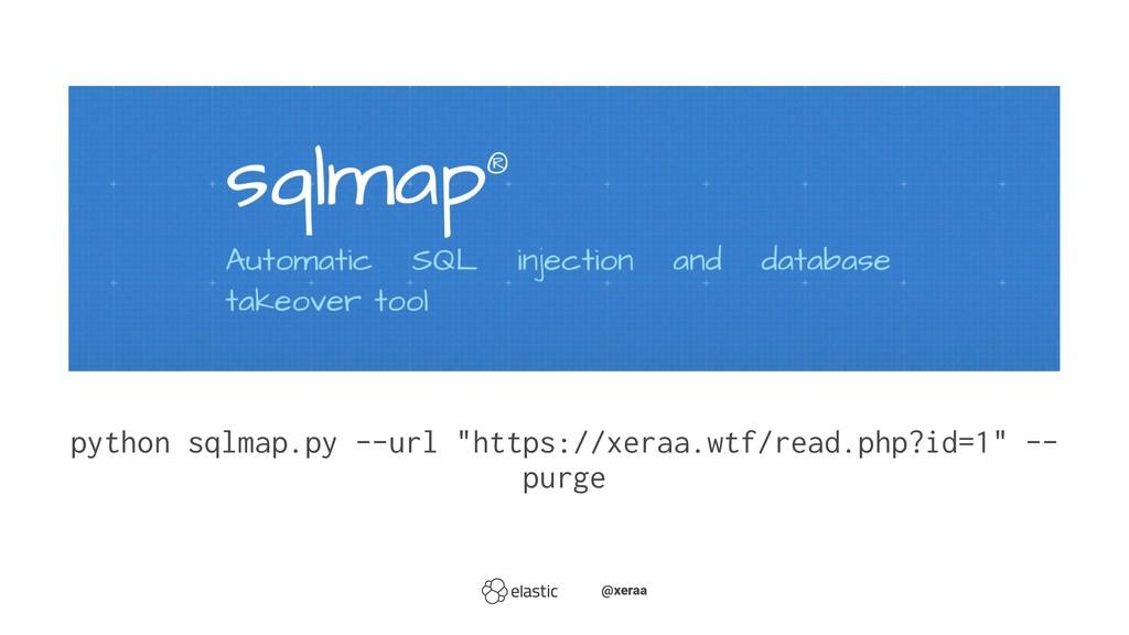"python sqlmap.py --url ""https://xeraa.wtf/read...."