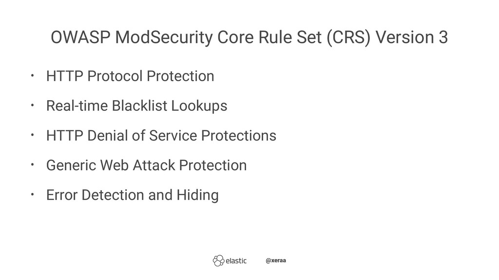OWASP ModSecurity Core Rule Set (CRS) Version 3...
