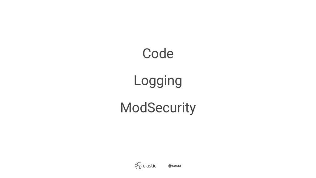 Code Logging ModSecurity ̴̴@xeraa