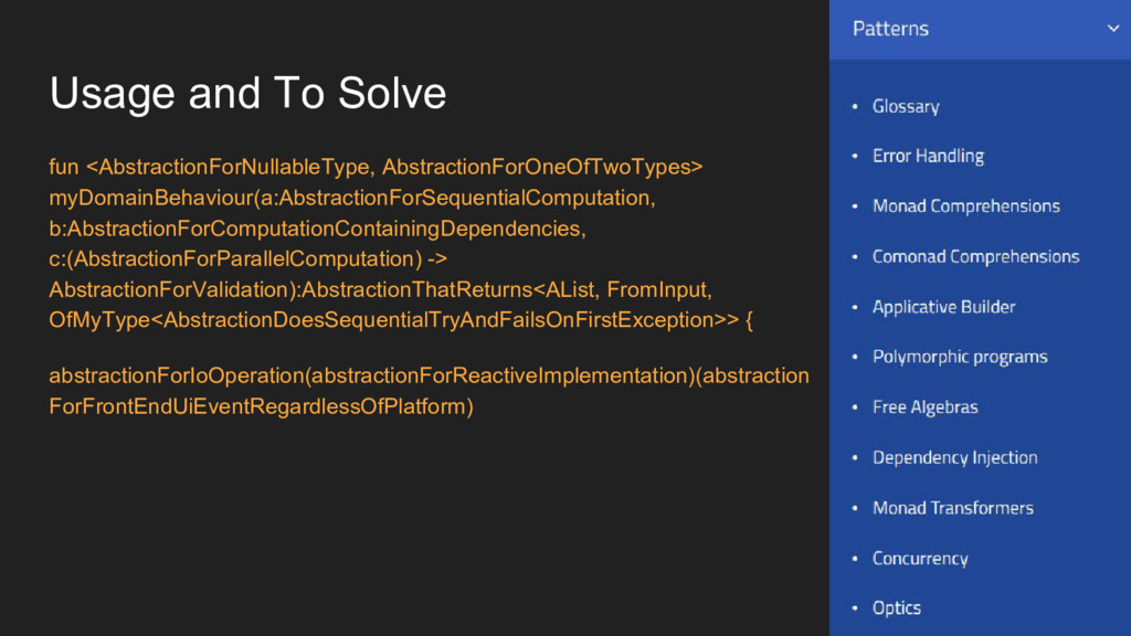 Usage and To Solve fun <AbstractionForNullableT...