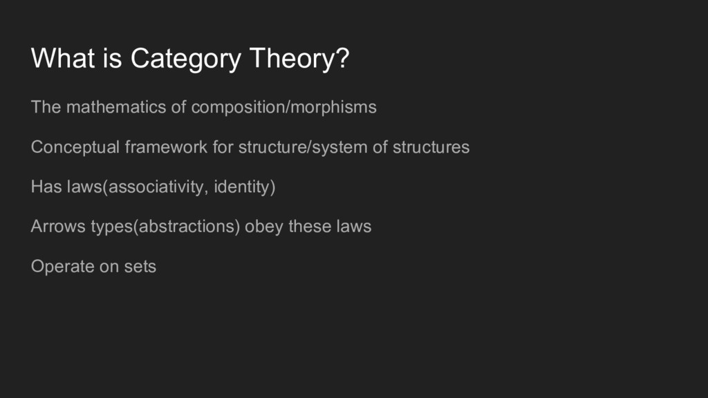 What is Category Theory? The mathematics of com...