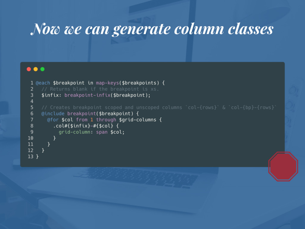 Now we can generate column classes