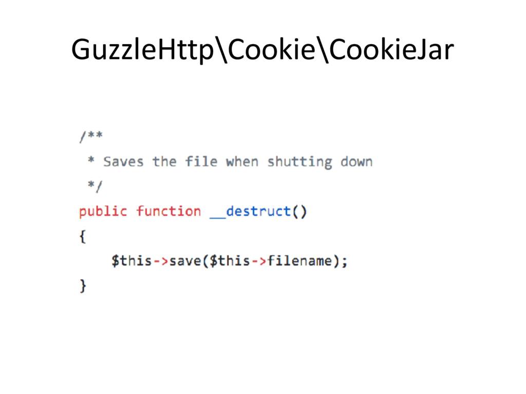 GuzzleHttp\Cookie\CookieJar
