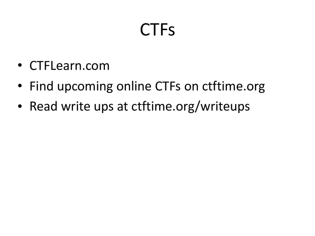 CTFs • CTFLearn.com • Find upcoming online CTFs...