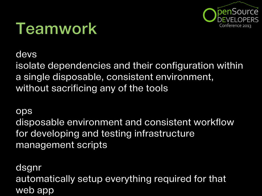 Teamwork devs isolate dependencies and their co...