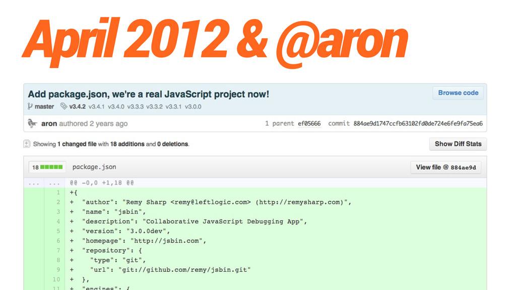 April 2012 & @aron