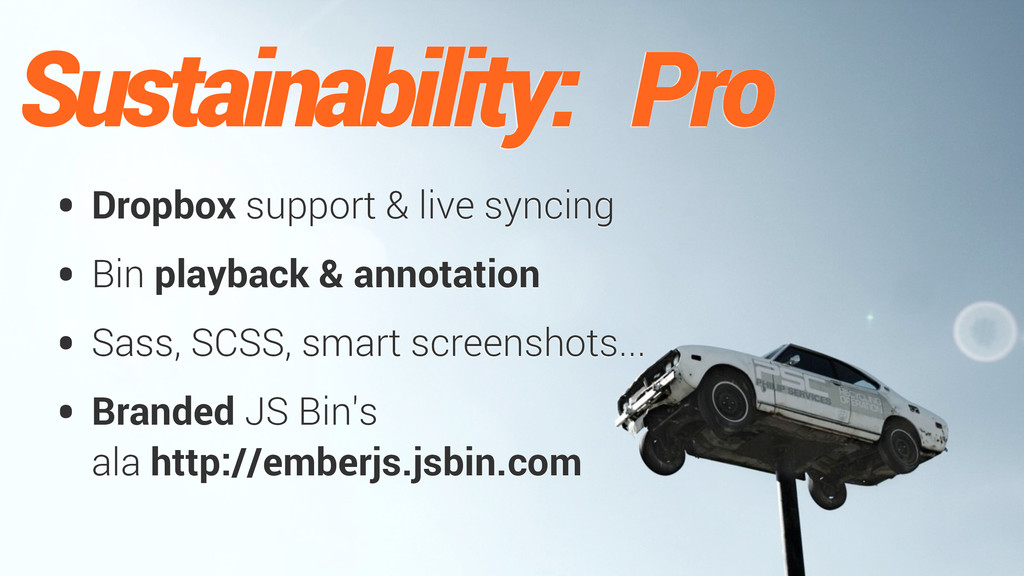 Sustainability: Pro • Dropbox support & live sy...