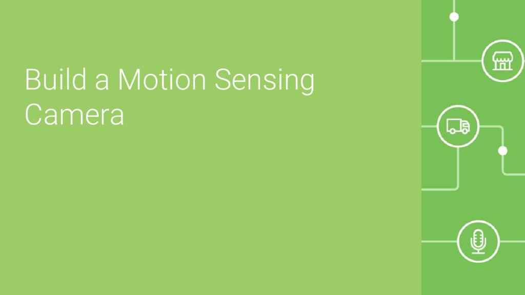 Build a Motion Sensing Camera