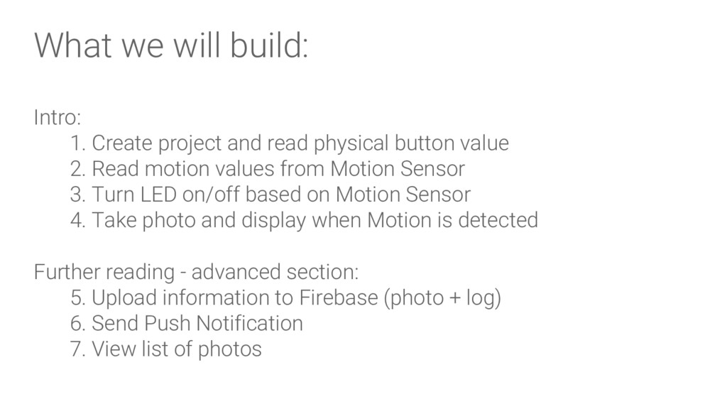 What we will build: Intro: 1. Create project an...