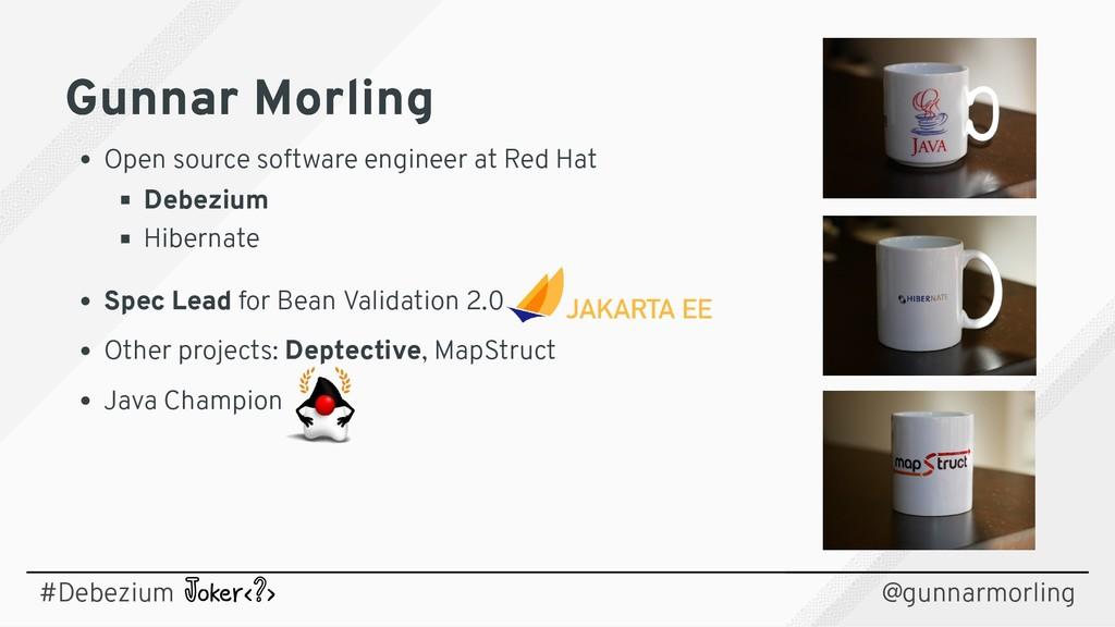 Gunnar Morling Gunnar Morling Open source softw...