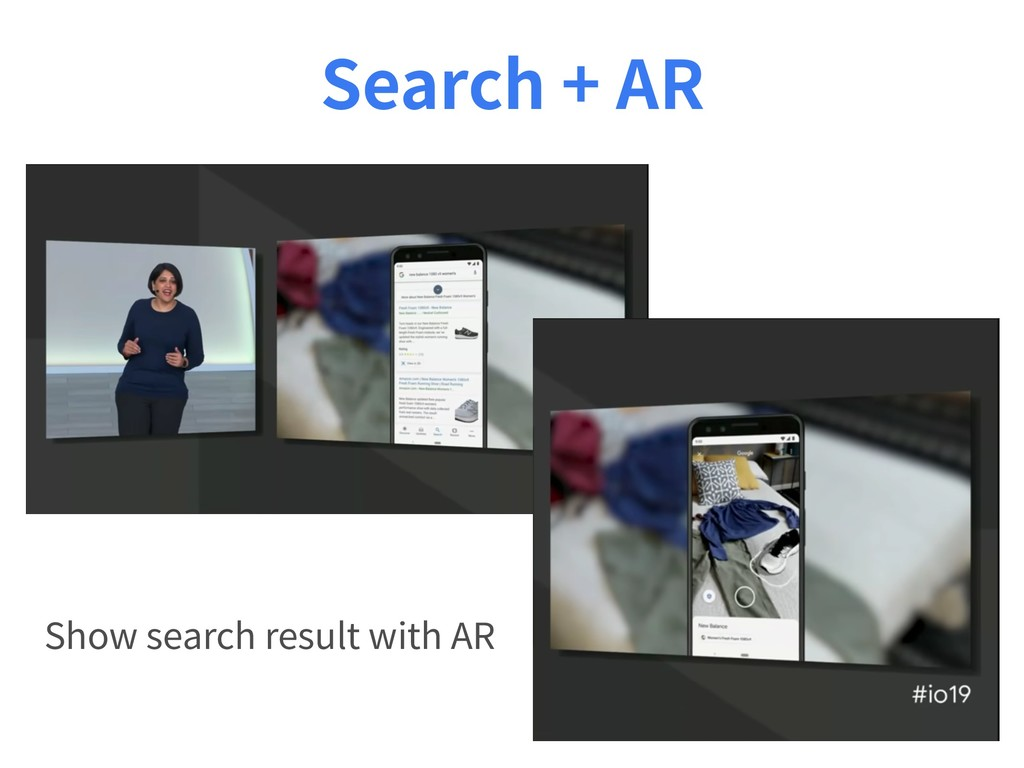 Search + AR Show search result with AR