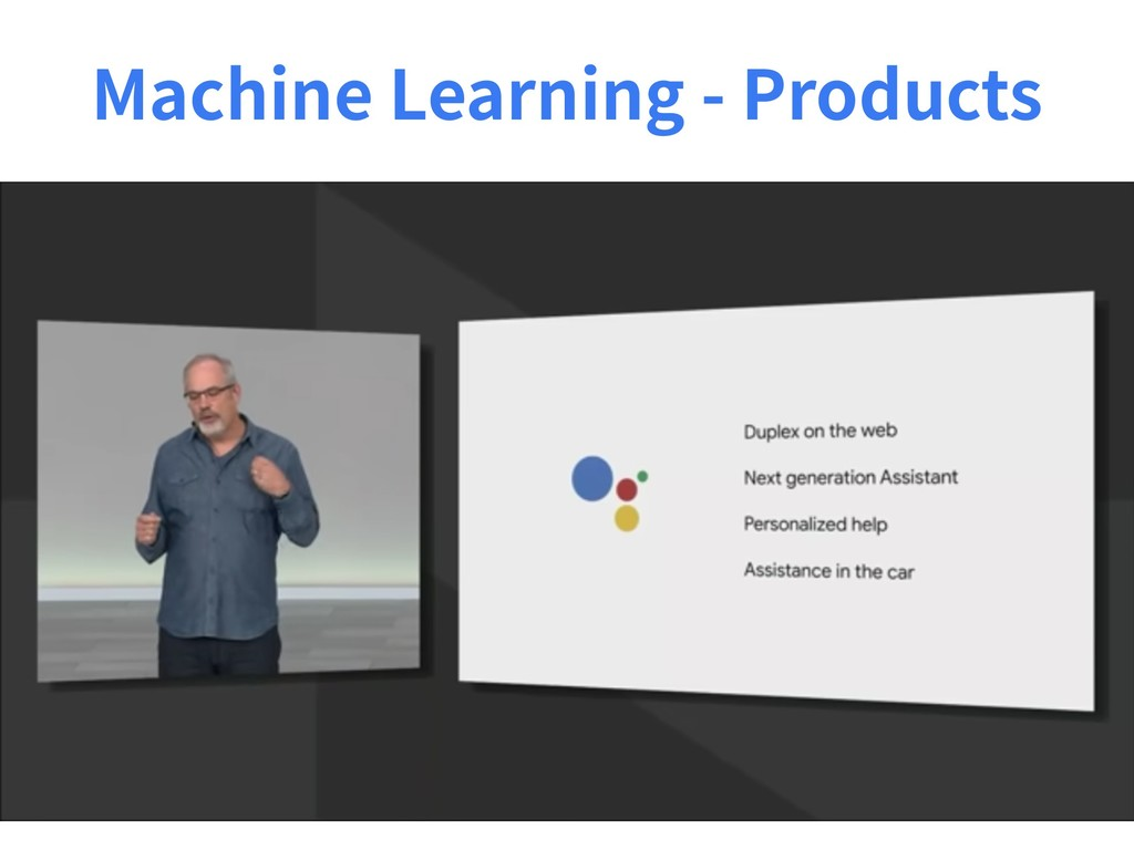 Machine Learning - Products
