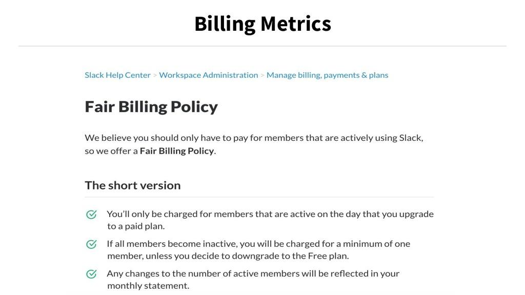Billing Metrics