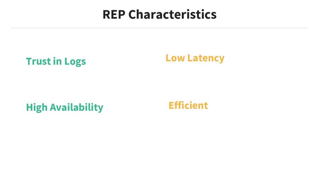 Efficient REP Characteristics Trust in Logs Hig...