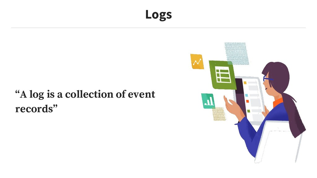 """Logs """"A log is a collection of event records"""""""